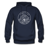 Connecticut Hoodie - State Design Unisex Connecticut Hooded Sweatshirt - navy