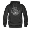 Connecticut Hoodie - State Design Unisex Connecticut Hooded Sweatshirt - charcoal gray