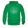 Connecticut Hoodie - State Design Unisex Connecticut Hooded Sweatshirt - kelly green