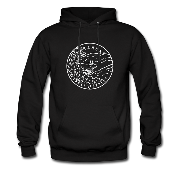Arkansas Hoodie - State Design Unisex Arkansas Hooded Sweatshirt - black