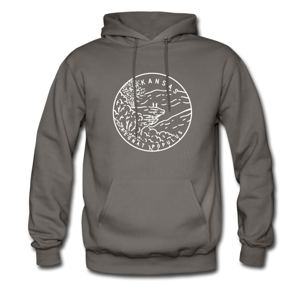 Arkansas Hoodie - State Design Unisex Arkansas Hooded Sweatshirt - asphalt gray