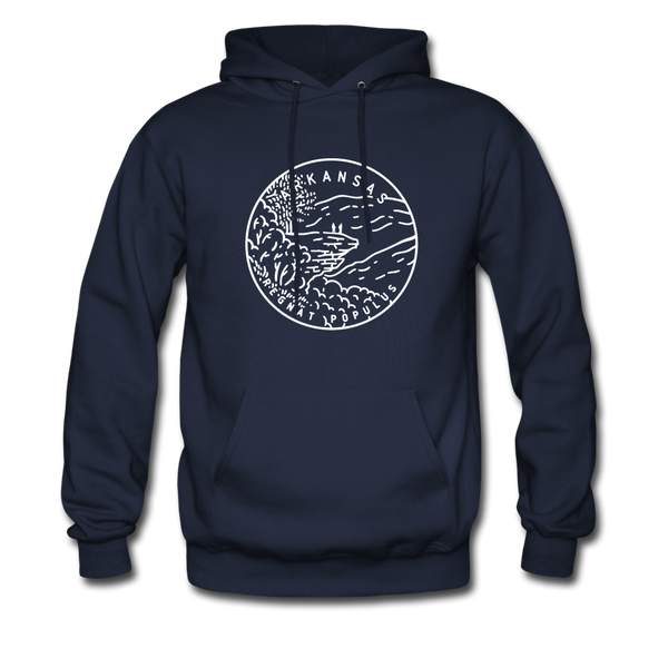 Arkansas Hoodie - State Design Unisex Arkansas Hooded Sweatshirt - navy