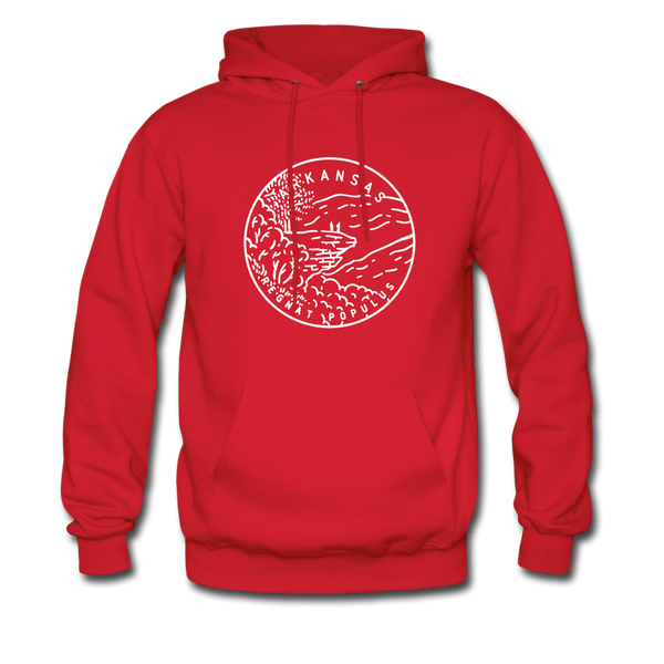 Arkansas Hoodie - State Design Unisex Arkansas Hooded Sweatshirt - red