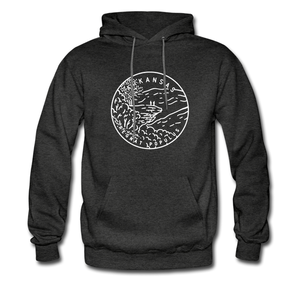 Arkansas Hoodie - State Design Unisex Arkansas Hooded Sweatshirt - charcoal gray