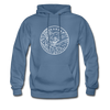 Arkansas Hoodie - State Design Unisex Arkansas Hooded Sweatshirt - denim blue