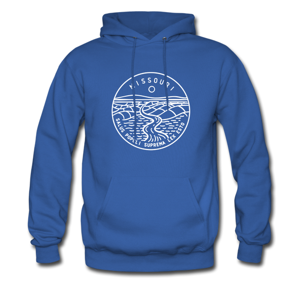 Missouri Hoodie - State Design Unisex Missouri Hooded Sweatshirt - royal blue