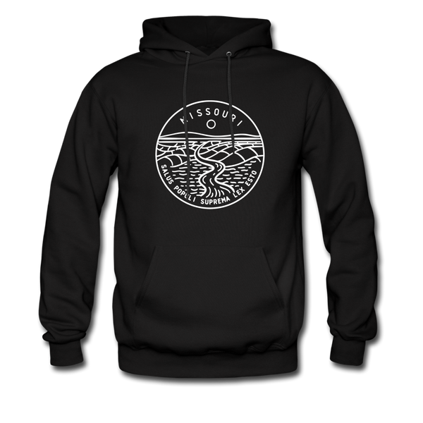 Missouri Hoodie - State Design Unisex Missouri Hooded Sweatshirt - black