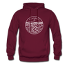 Missouri Hoodie - State Design Unisex Missouri Hooded Sweatshirt - burgundy