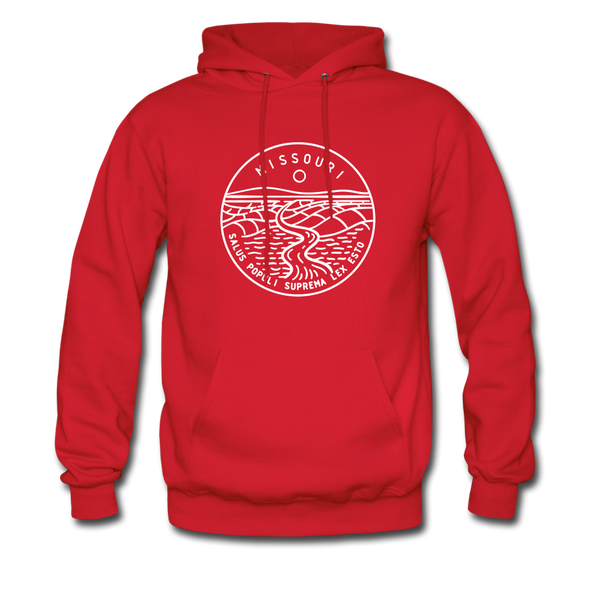 Missouri Hoodie - State Design Unisex Missouri Hooded Sweatshirt - red