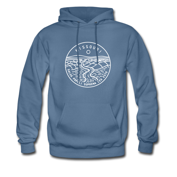 Missouri Hoodie - State Design Unisex Missouri Hooded Sweatshirt - denim blue