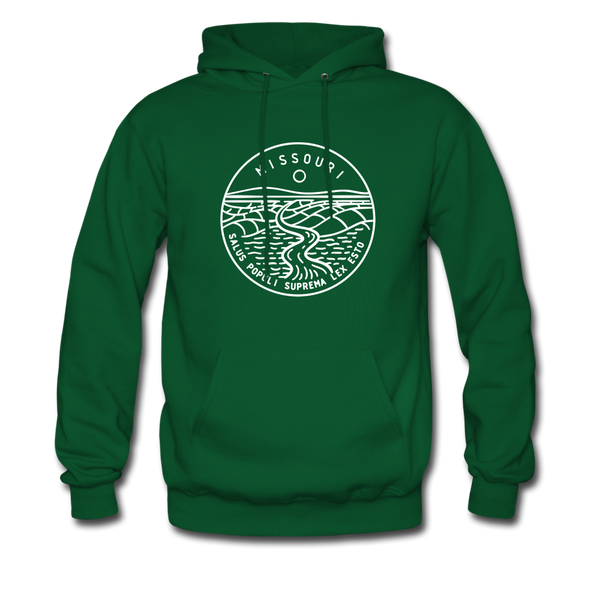 Missouri Hoodie - State Design Unisex Missouri Hooded Sweatshirt - forest green