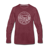 Alabama Long Sleeve T-Shirt - State Design Unisex Alabama Long Sleeve Shirt - heather burgundy