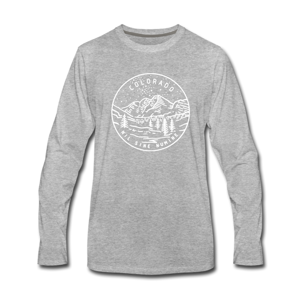 Colorado Long Sleeve T-Shirt - State Design Unisex Colorado Long Sleeve Shirt - heather gray