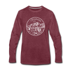 Colorado Long Sleeve T-Shirt - State Design Unisex Colorado Long Sleeve Shirt - heather burgundy