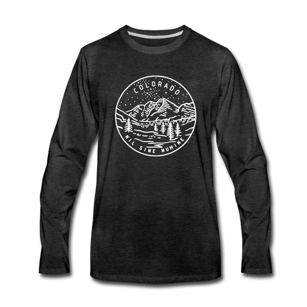 Colorado Long Sleeve T-Shirt - State Design Unisex Colorado Long Sleeve Shirt - charcoal gray