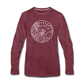 Arkansas Long Sleeve T-Shirt - State Design Unisex Arkansas Long Sleeve Shirt
