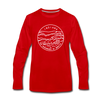 Indiana Long Sleeve T-Shirt - State Design Unisex Indiana Long Sleeve Shirt - red