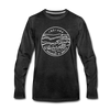 Indiana Long Sleeve T-Shirt - State Design Unisex Indiana Long Sleeve Shirt - charcoal gray