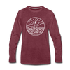 Maine Long Sleeve T-Shirt - State Design Unisex Maine Long Sleeve Shirt - heather burgundy