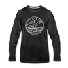 Maine Long Sleeve T-Shirt - State Design Unisex Maine Long Sleeve Shirt - charcoal gray
