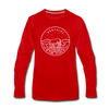 Kentucky Long Sleeve T-Shirt - State Design Unisex Kentucky Long Sleeve Shirt - red