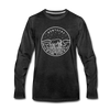 Kentucky Long Sleeve T-Shirt - State Design Unisex Kentucky Long Sleeve Shirt - charcoal gray