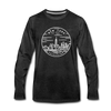 New York Long Sleeve T-Shirt - State Design Unisex New York Long Sleeve Shirt - charcoal gray