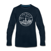 New York Long Sleeve T-Shirt - State Design Unisex New York Long Sleeve Shirt - deep navy