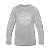 West Virginia Long Sleeve T-Shirt - State Design Unisex West Virginia Long Sleeve Shirt - heather gray