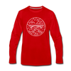 West Virginia Long Sleeve T-Shirt - State Design Unisex West Virginia Long Sleeve Shirt - red