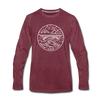 West Virginia Long Sleeve T-Shirt - State Design Unisex West Virginia Long Sleeve Shirt - heather burgundy