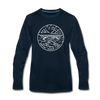 West Virginia Long Sleeve T-Shirt - State Design Unisex West Virginia Long Sleeve Shirt - deep navy
