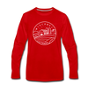 Wisconsin Long Sleeve T-Shirt - State Design Unisex Wisconsin Long Sleeve Shirt - red