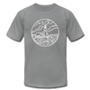 Maine T-Shirt - State Design Unisex Maine T Shirt - slate