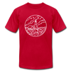 Maine T-Shirt - State Design Unisex Maine T Shirt - red