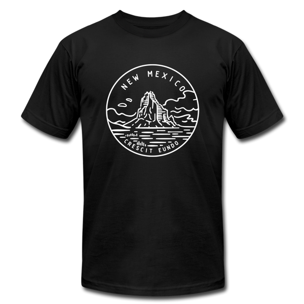 New Mexico T-Shirt - State Design Unisex New Mexico T Shirt - black
