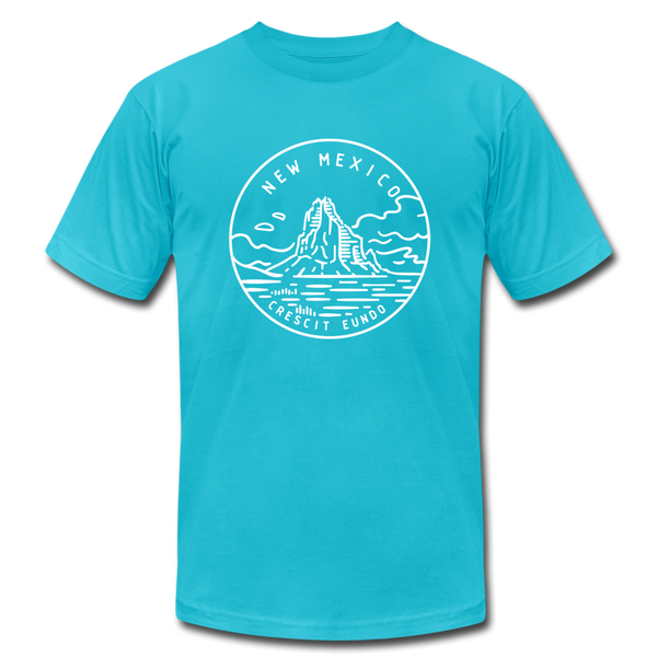 New Mexico T-Shirt - State Design Unisex New Mexico T Shirt - turquoise