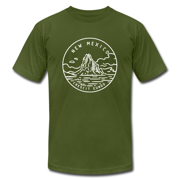 New Mexico T-Shirt - State Design Unisex New Mexico T Shirt - olive