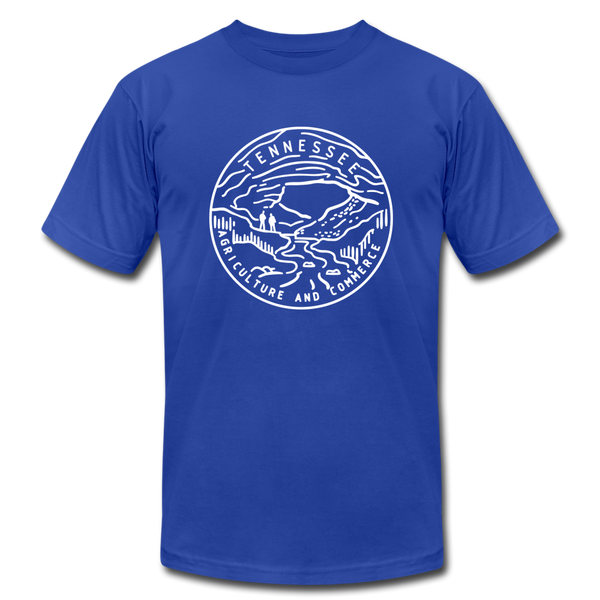 Tennessee T-Shirt - State Design Unisex Tennessee T Shirt - royal blue