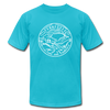 Tennessee T-Shirt - State Design Unisex Tennessee T Shirt - turquoise