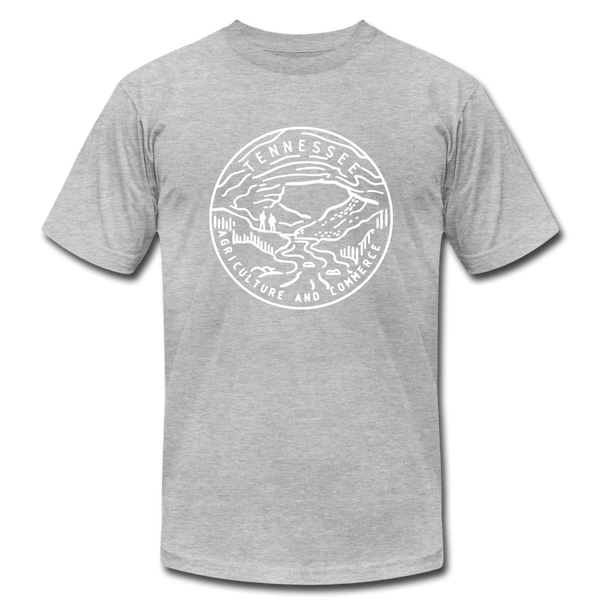 Tennessee T-Shirt - State Design Unisex Tennessee T Shirt - heather gray