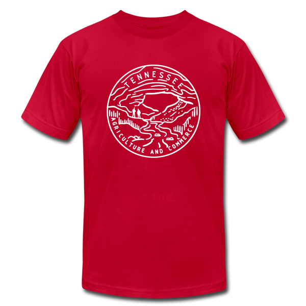 Tennessee T-Shirt - State Design Unisex Tennessee T Shirt - red
