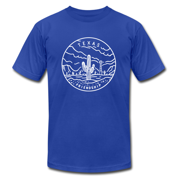 Texas T-Shirt - State Design Unisex Texas T Shirt - royal blue