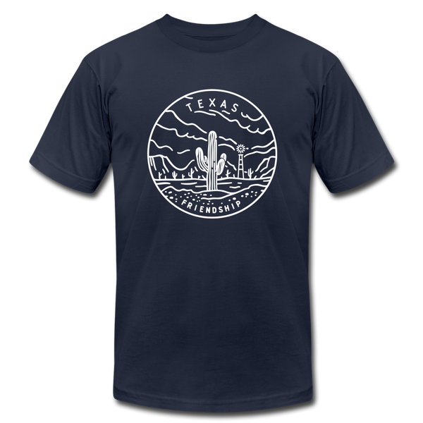 Texas T-Shirt - State Design Unisex Texas T Shirt - navy