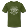 West Virginia T-Shirt - State Design Unisex West Virginia T Shirt - olive