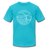 Vermont T-Shirt - State Design Unisex Vermont T Shirt - turquoise