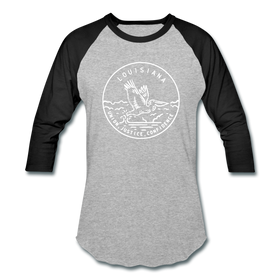 Louisiana Baseball T-Shirt - Retro Mountain Unisex Louisiana Raglan T Shirt