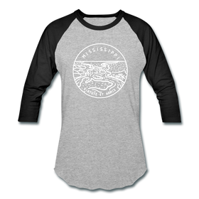 Mississippi Baseball T-Shirt - Retro Mountain Unisex Mississippi Raglan T Shirt