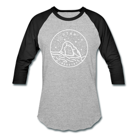 Utah Baseball T-Shirt - Retro Mountain Unisex Utah Raglan T Shirt