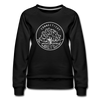 Connecticut Women's Sweatshirt - Retro Mountain Women's Connecticut Crewneck Sweatshirt - black